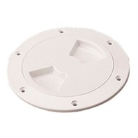 "QUARTER TURN DECK PLATE-White, 6"" ID"