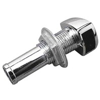 "BOAT GAS TANK VENT-Chrome Plated Zinc, Max 1-1/8"" Hull Thickness"