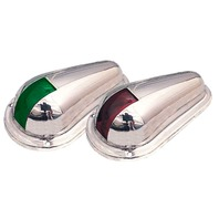 """SIDE LIGHTS, SS-4"""" x 2-5/16"""" (pair) Red & Green Boat Bow Lights"""