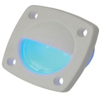 LED UTILITY LIGHT-White Finish, Blue LED