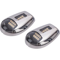 LED SIDE MOUNT DOCKING LIGHTS-Stainless Steel, Pair