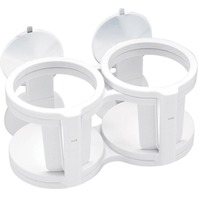 EXPANDABLE DRINK HOLDER WITH SUCTION CUPS-Dual/Quad Drink Holder, White