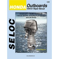 SELOC SERVICE MANUAL, Honda Outboards 1978-99 ALL 2-130 Hp 1 to 4-CYL  4-stroke