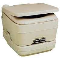 SEALAND 960 SERIES PORTABLE TOILET-Model 962, 2.5 Gal., Parchment
