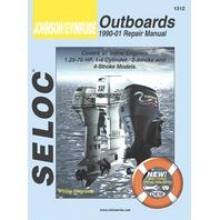 SIERRA SELOC MARINE ENGINE REPAIR MANUALS, JOHNSON/EVINRUDE/BRP-1990-2001, Inline, 1.25-70 Hp,1-4 cylinder,2 & 4-stroke,incl.Fuel Injection/Jet