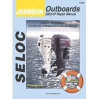 SIERRA SELOC MARINE ENGINE REPAIR MANUALS, JOHNSON/EVINRUDE/BRP-Johnson 2002 -07, all 2.5 - 250 Hp 2 & 4-stroke