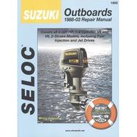 SIERRA SELOC MARINE ENGINE REPAIR MANUALS, SUZUKI-1988-2003, all 2-225 Hp, 1- 3-cyl. V4 & V6, 2-stroke incl. fuel injection& jet drives