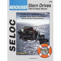 SIERRA SELOC MARINE ENGINE REPAIR MANUAL, MERCRUISER STERN DRIVE-1992-2000,all gas engines & drive systems