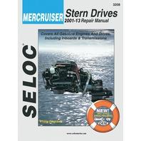 SIERRA SELOC MARINE ENGINE REPAIR MANUALS, MERCRUISER STERN DRIVE-2001-13, all gas engines & drive systems, incl.Velvet & ZF/Hurth