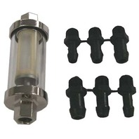 "CLEARVIEW INLINE FUEL FILTER KIT-Universal Inline Filter Kit with 1/4"", 5/16"" & 3/8"" Barbs"