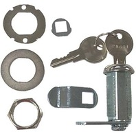 "CAM LOCK w/Hardware & Keys, 1-1/8"" Depth"