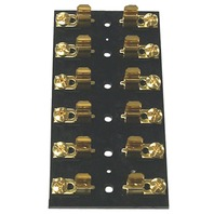 FUSE BLOCK FOR GLASS TUBE FUSES-6-Gang Fuse Block w/Clips