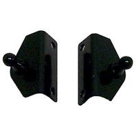 "NAUTALIFT  ANGLED SUPPORT BRACKETS-2"" x .65"", Black Zinc Plated Steel"