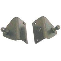 "NAUTALIFT  ANGLED SUPPORT BRACKETS-2"" X 1.2"" Black Zinc Plated Steel"