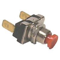 PUSH BUTTON SWITCH, RED-On-Off, SPST