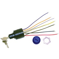 IGNITION SWITCH, 4-POSITION 7-WIRE MAGNETO-Accessory-Off-Run-Start - Push To Choke