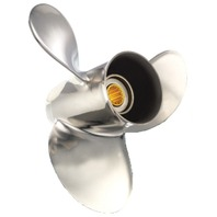SATURN (A) STAINLESS 9-1/4 X 8 PROPELLER FOR BRP/JOHNSON/SUZUKI 9.9-15 HP Outboards