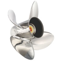 13-1/4 x 15 Pitch HR Titan Stainless 4-Blade Propeller for 75-130 HP Honda