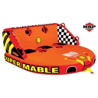 """SUPER MABLE MULTIPLE POSITION TOWABLE-Super Mable Tube, 3-Rider, 75"""" x 73"""""""