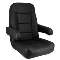 Marine Boat Helmsman Pilot Seat, Black