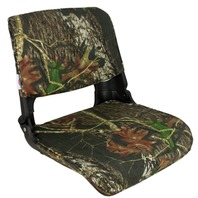 SKIPPER DELUXE Molded Fold Down Boat Seat w/Cushions, Mossy Oak Break Up
