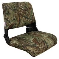 SKIPPER DELUXE Molded Fold Down Boat Seat w/Cushions, Mossy Oak Duck Blind