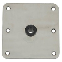 """KINGPIN STAINLESS STEEL DECK BASE-7"""" x 7"""" Stainless Steel Base 3/4""""  Center Hole Kingpin"""