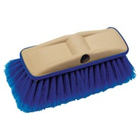 "8"" DELUXE BLOCK BRUSH WITH BUMPER-Deluxe Wash Brush, Medium (Blue)"