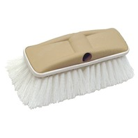 "8"" DELUXE BLOCK BRUSH WITH BUMPER-Deluxe Wash Brush, Stiff Scrub (White)"