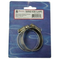 """STAINLESS STEEL HOSE CLAMPS, DISPLAY PACKED PAIR-Std 28, 1-1/4"""" - 2-1/4"""""""