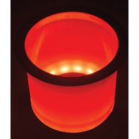 LED-LCH-R-DP TH Marine LED LIGHTED CUP HOLDERS-Red