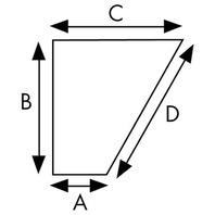 "ALUMINUM SKEG-5-3/4""H x 9-1/2""W (Top Edge) for Evinrude/Johnson, Yamaha"