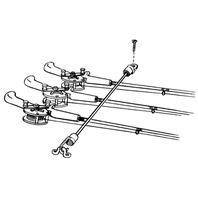 """ROD TAMER ROD STRAPS-18"""" Deck Mount, Holds 7 Rods"""