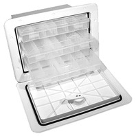 SURE-SEAL  TACKLE TRAY BOX-Tackle Center w/3 Trays, White