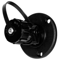 WASHDOWN FITTING-Straight, w/Shutoff Valve, Black