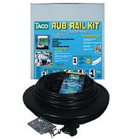"RUB RAIL KIT, FLEXIBLE VINYL, 1-1/16""-50' L, Black w/Black Insert"