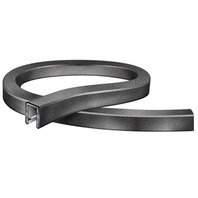 "FLEXIBLE VINYL TRIM, 25'L x 1/2""H, 1/4"" ID, Black"