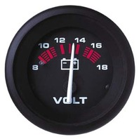 "AMEGA  SIGNATURE SERIES GAUGE-2"" Voltmeter, 8-18 vdc"
