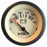 "SAHARA  SIGNATURE SERIES GAUGE-2"" Voltmeter, 8-18 VDC"