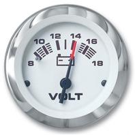 "LIDO SERIES PREMIUM GAUGE-2"" Voltmeter, 8-18V"