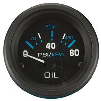 "ECLIPSE SERIES GAUGE-2"" Oil Pressure Gauge, 80 PSI"
