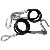 59541 Tie Down HITCH CABLES-Class III, 5000# Trailer, Black Vinyl Jacketed, Pair