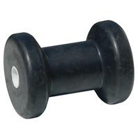 "HULL SAV'R ROLLER, BLACK RUBBER-4"" Spool Roller, 5/8"" ID"