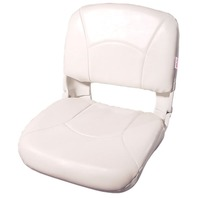 ALL WEATHER HIGH BACK BOAT SEAT WITH CUSHIONS, White/White