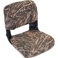 ALL WEATHER HIGH BACK BOAT SEAT WITH CUSHIONS- Mossy Oak Shadow Grass