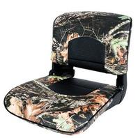 TEMPRESS PROFILE GUIDE SERIES FOLDING BOAT SEAT-Mossy Oak Breakup, Black Shell