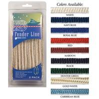 BRAIDED NYLON FENDER LINES-3/8  x 6' Navy Blue