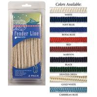BRAIDED NYLON FENDER LINES-3/8  x 6' Black
