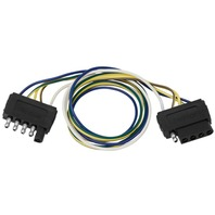 """WIRE HARNESS CONNECTORS 5-Way Extension Harness 24"""" Loop 5-Flat Plug"""