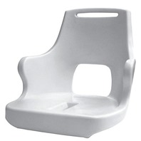 PILOT CHAIR WITH ARM RESTS-White Molded Plastic Shell Only